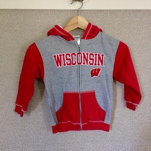 S/(4) Wisconsin Badgers Hooded Sweatshirt